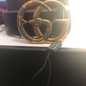 Gucci double G serpent belt